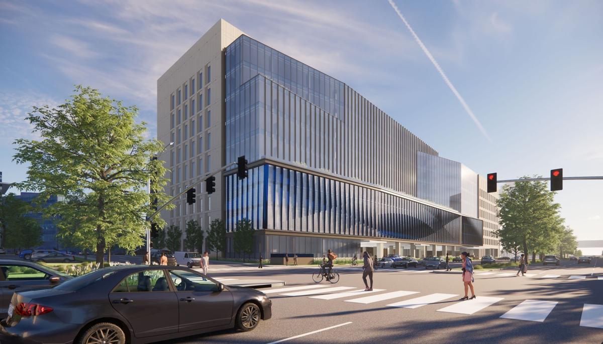 Ambulatory cancer center rendering