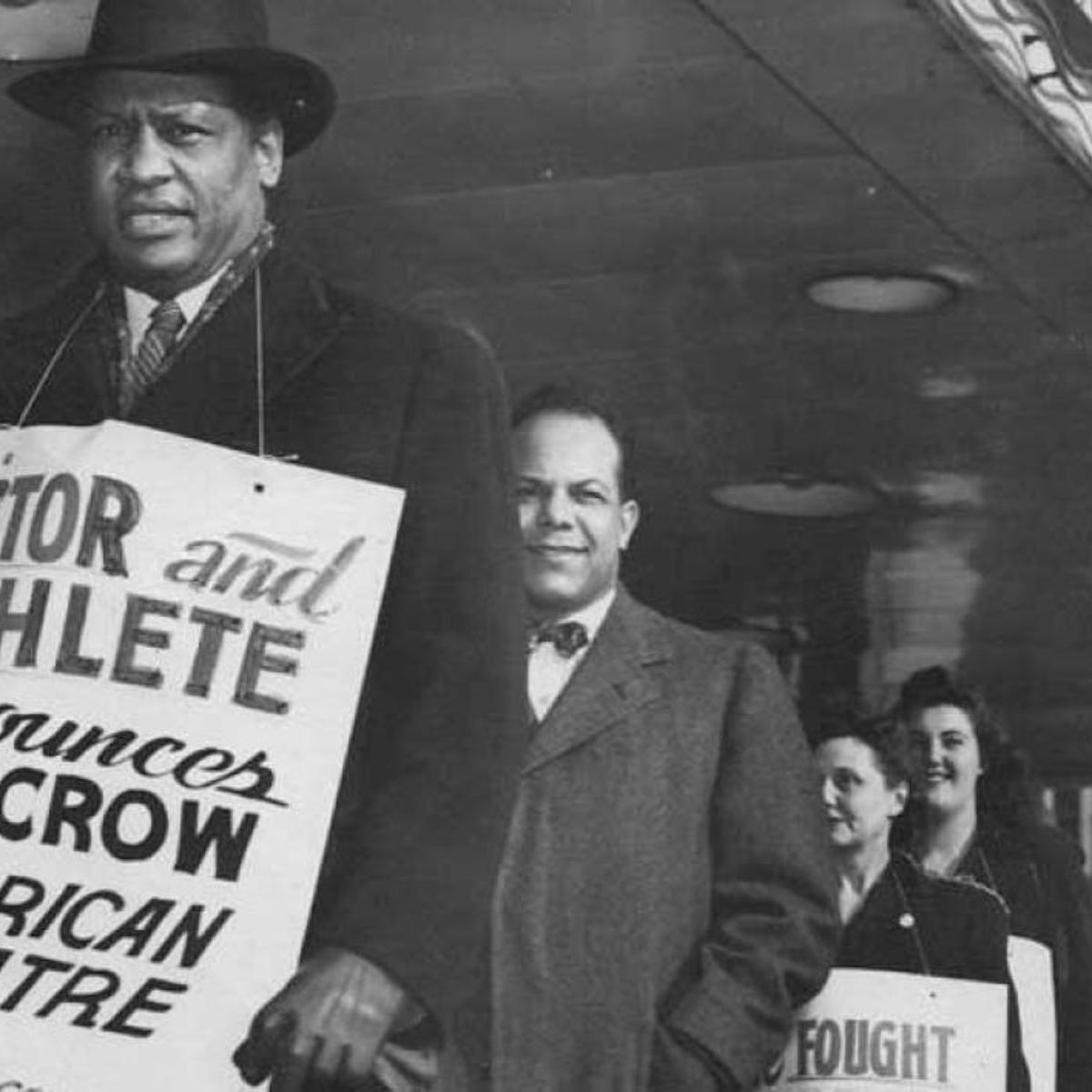 Jan. 25, 1947 • Paul Robeson marches downtown to protest The American  Theater's segregated seating | Post-Dispatch Archives | stltoday.com