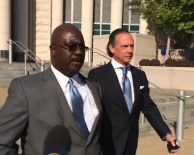 Sylvester Caldwell outside courthouse