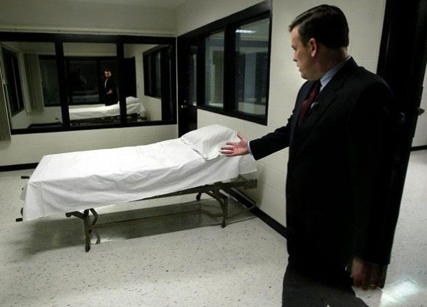 A Missouri Department Of Corrections Official At The Execution Chamber At  The State Prison In Bonne Terre In 2005. (File Photo)