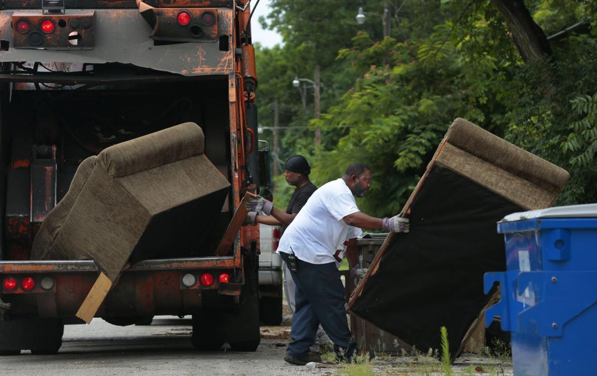 Bulk trash stacking up as short staffing affects pickup