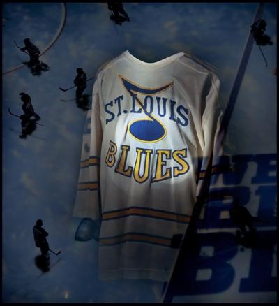 6e167bcae34af The original prototype of the St. Louis Blues jersey from 1967