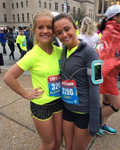 Ally Kostial poses with friend Casey Hendrickson