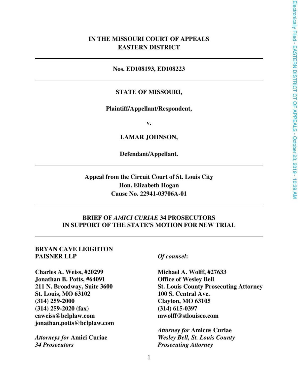 Prosecutors amicus brief Lamar Johnson