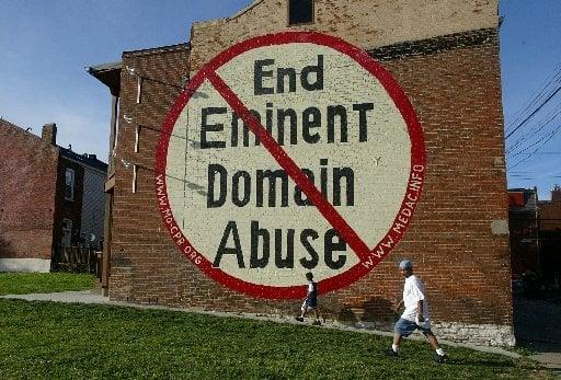 Anti-eminent domain mural sign