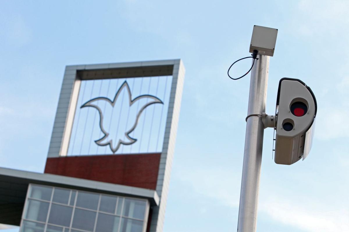 Red light camera at Chouteau Avenue in St. Louis, 2015