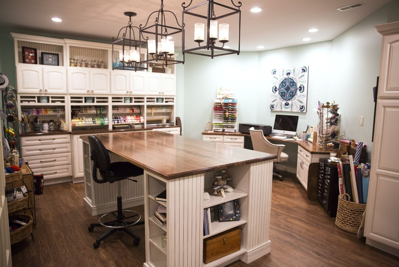 At Home: A Ladue Basement Transitions Into A Kids Art Studio And  Gift Wrapping Room