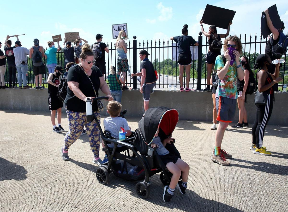 Protest march for George Floyd in St. Charles