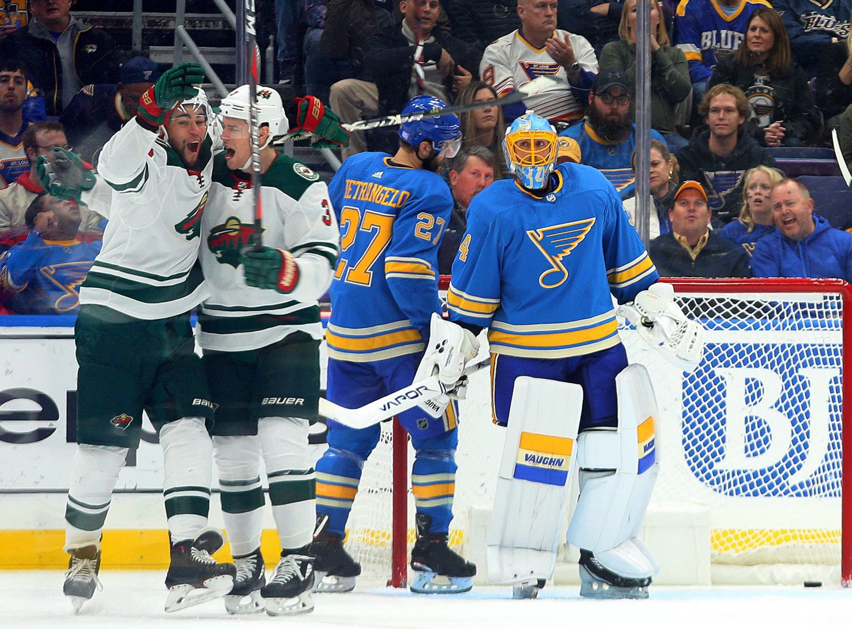 Blues Falter In Loss At Home Against Wild