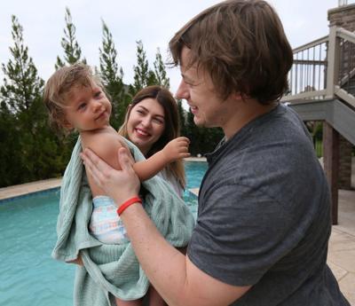 St. Louis Blues forward Vladimir Tarasenko and his family