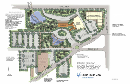 Plan for St. Louis Zoo south campus