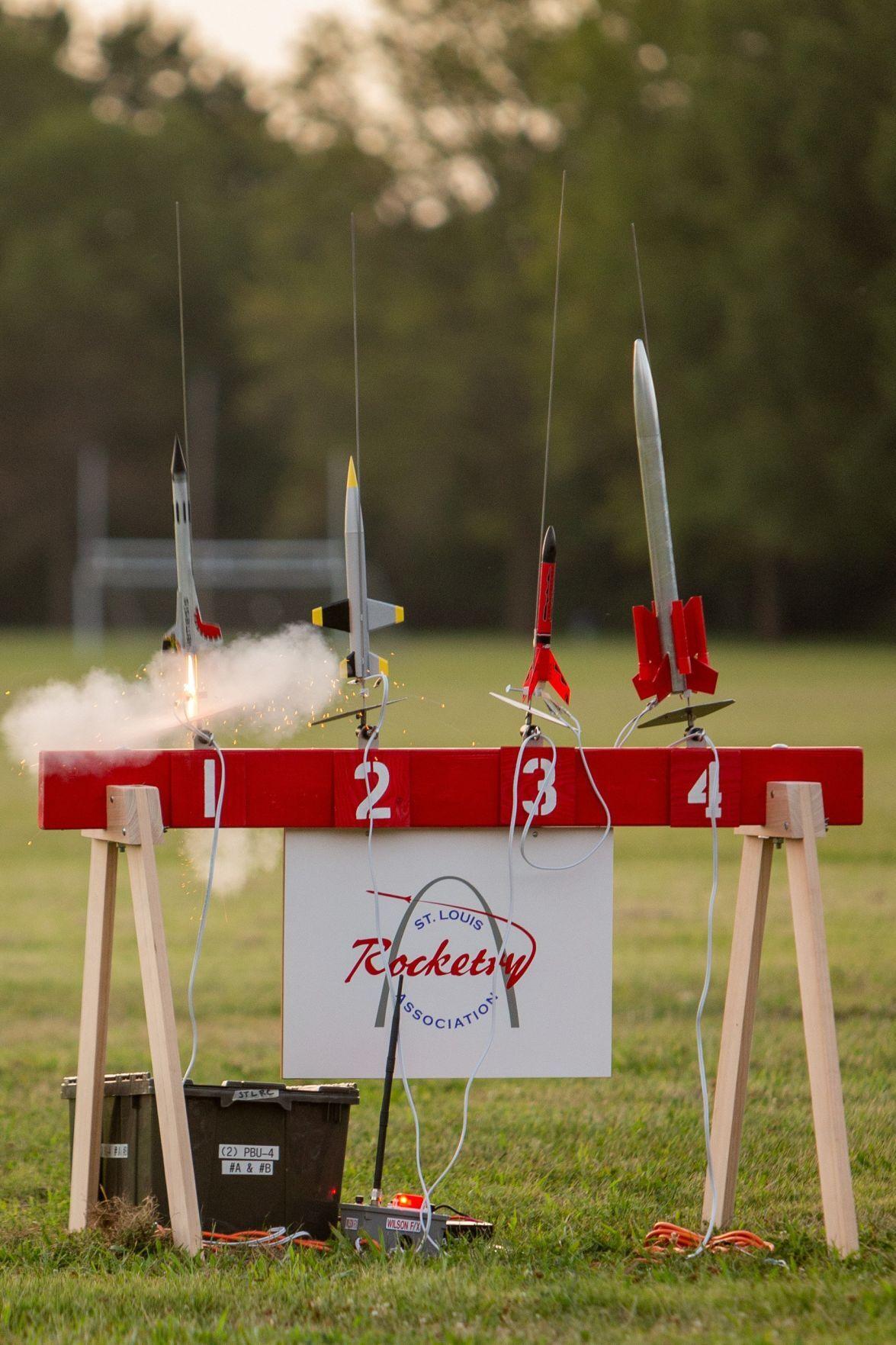 St. Louis Rocketry Association first night launch