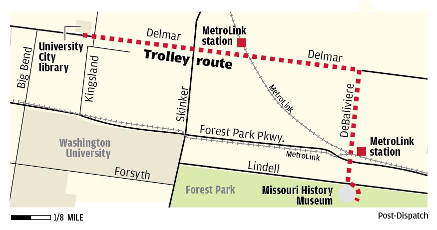 Loop Trolley route map