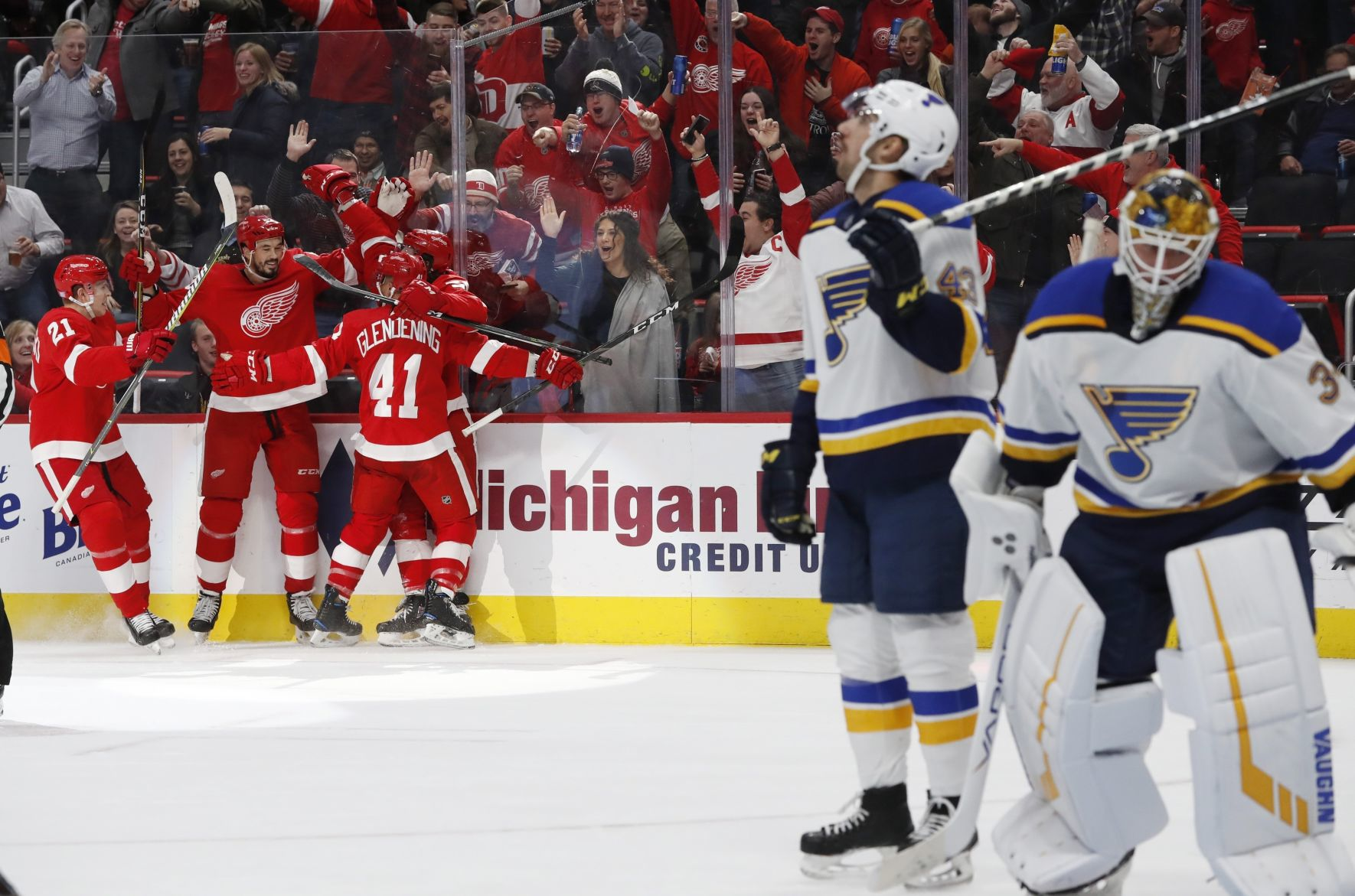 Blues Rally From Three-goal Deficit, Only To Suffer Another One-goal Loss