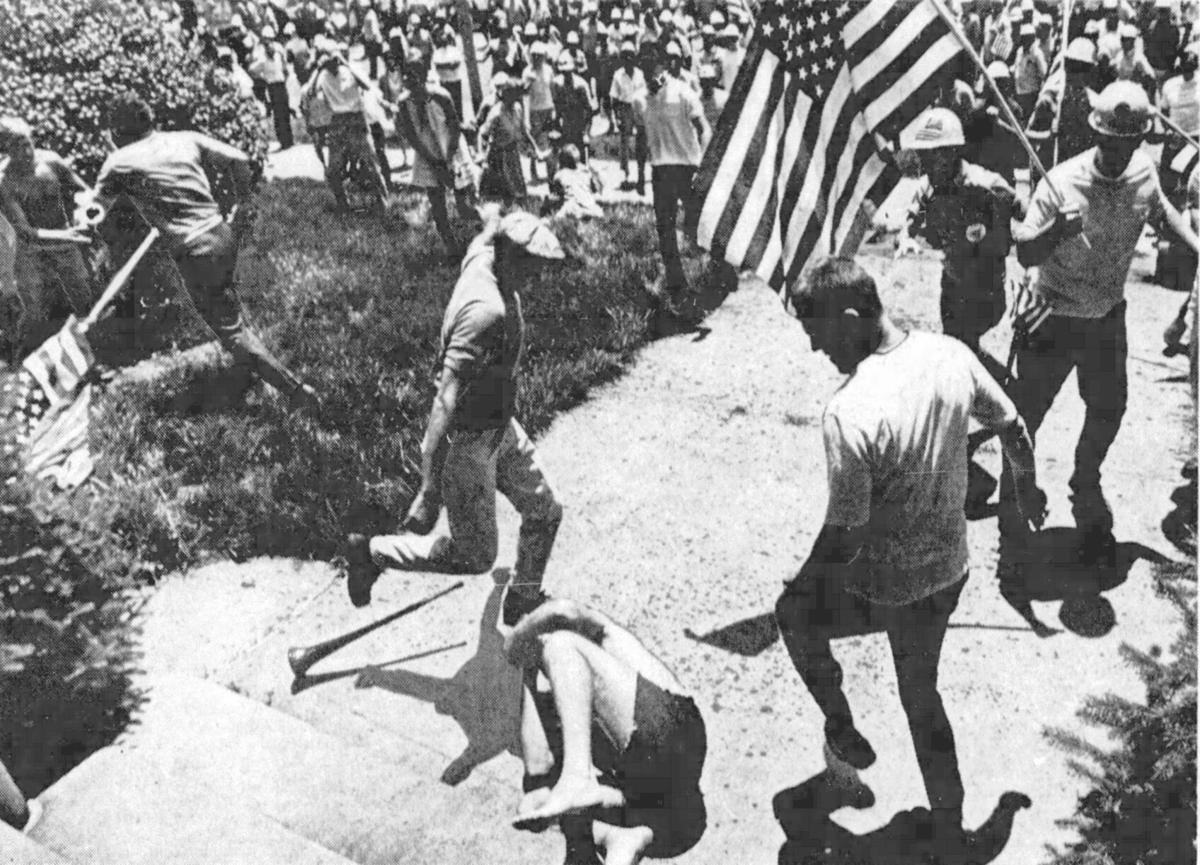 Attack durning parade