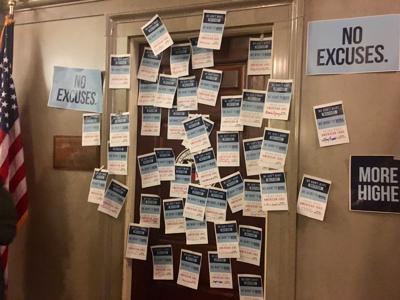 Sen. Doug Libla's office door