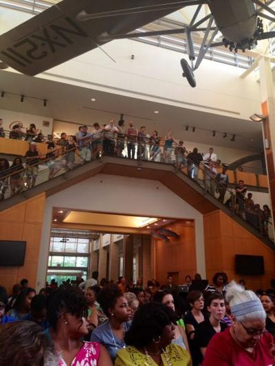 Town hall meeting at Missouri History Museum on Michael Brown's death