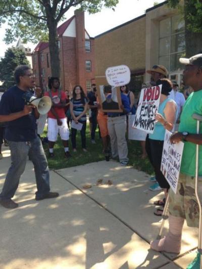 Court amnesty protest in Ferguson