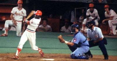 Lou Brock gets his 3,000th hit