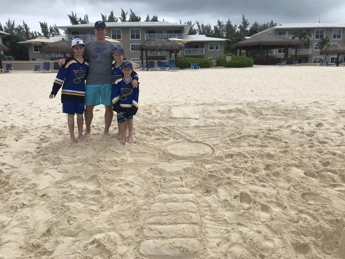 Tim Dowling and family in Cayman Islands