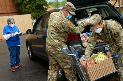 Missouri National Guard company works food pantry detail
