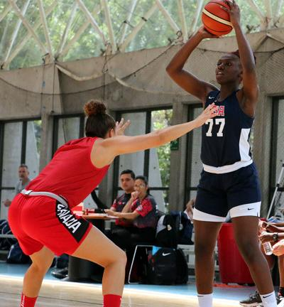 Aijha Blackwell FIBA exhibition