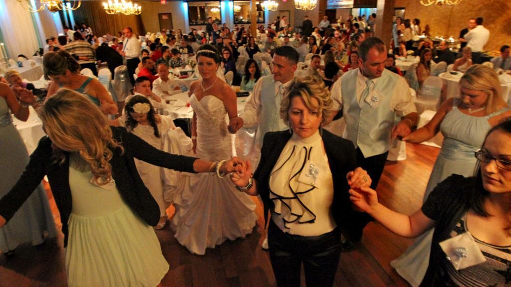 Bosnia Salihovic Wedding Guests Dance The Kolo Multimedia