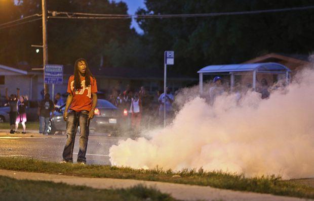 Tear gas Fired in Ferguson