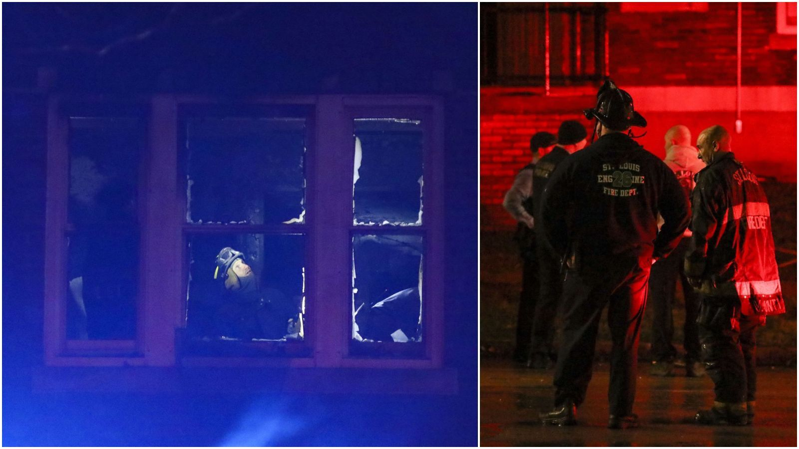 Toddler and infant rescued from apartment fire in north St. Louis, woman jumps from window to safety