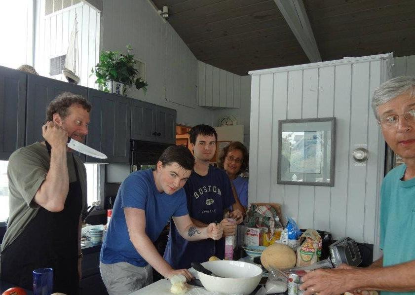 Cooking at the beach