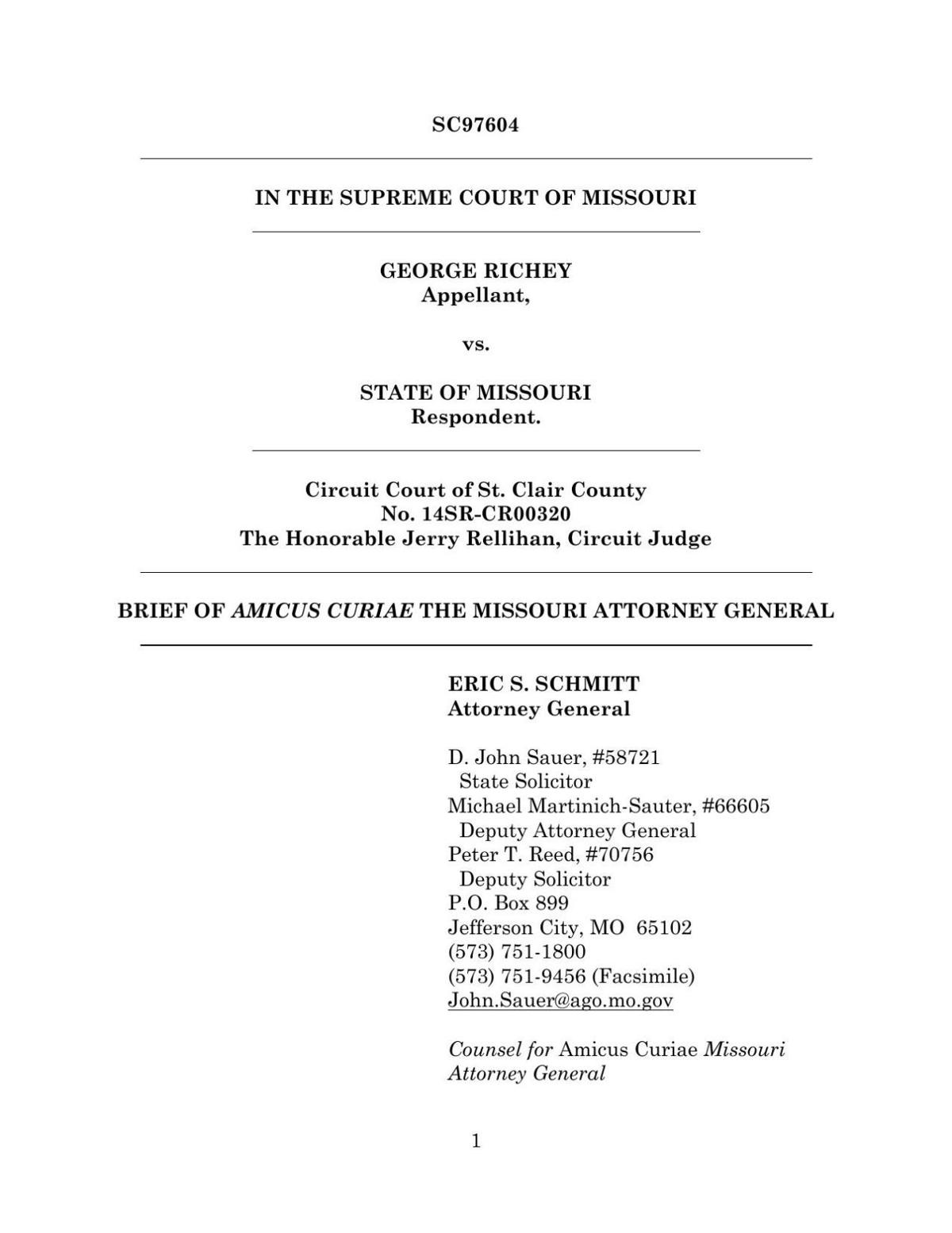 Amicus brief in George Richey case