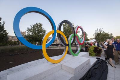 OLYMPIC RINGS UNVEILED