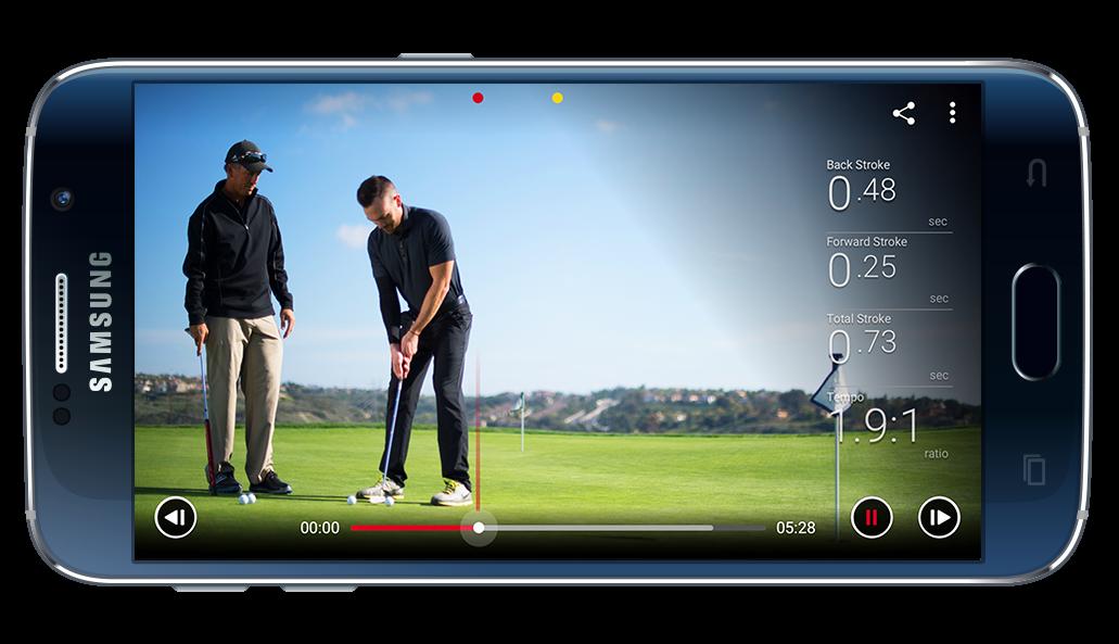 Blast Motion golf screen