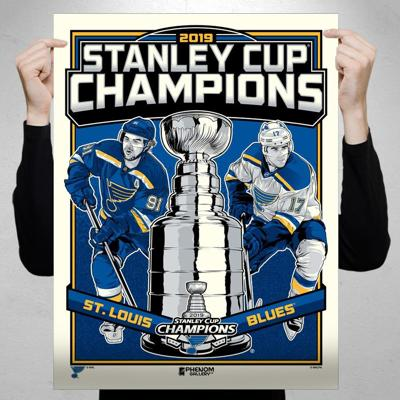 Phenom Gallery Launches Limited Edition St. Louis Blues 2019 Stanley Cup Champions Fine Art Print