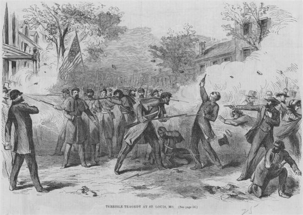 Union troops and pro-Southern rioters