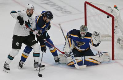 Blues and Sharks skate in game 4 of the semifinals