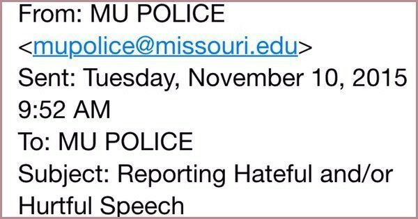 Email from MU police
