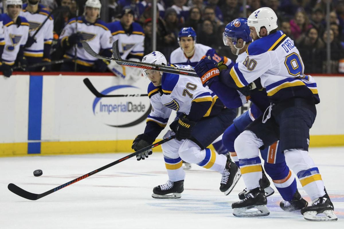 957d047ad1d Gordo  Underachieving Blues stay in the playoff race as Western rivals  sputter