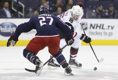 4a7aae48053 NHL  Fischer s 1st hat trick powers Coyotes past Blue Jackets ...