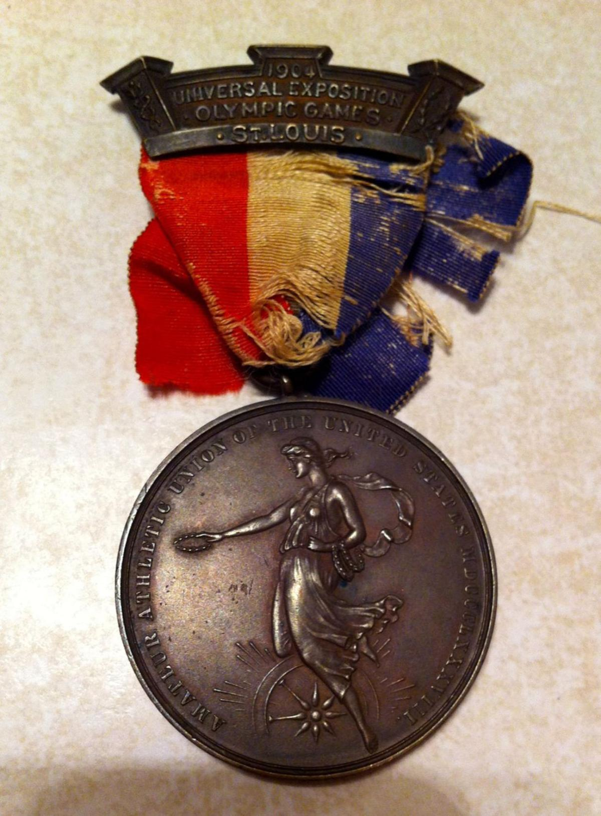Bronze medal from the 1904 Olympics for freestyle wrestling