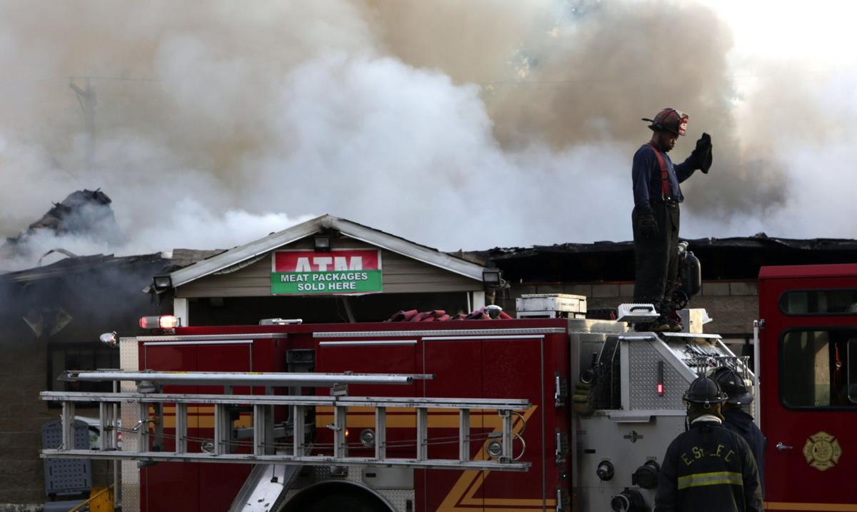East St. Louis convenience store goes up in flames