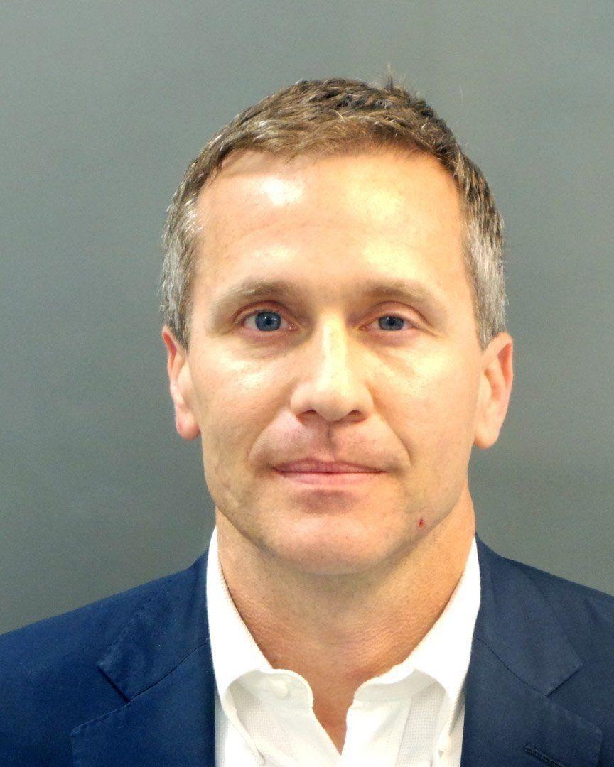 Booking photo of Missouri Gov. Eric Greitens,
