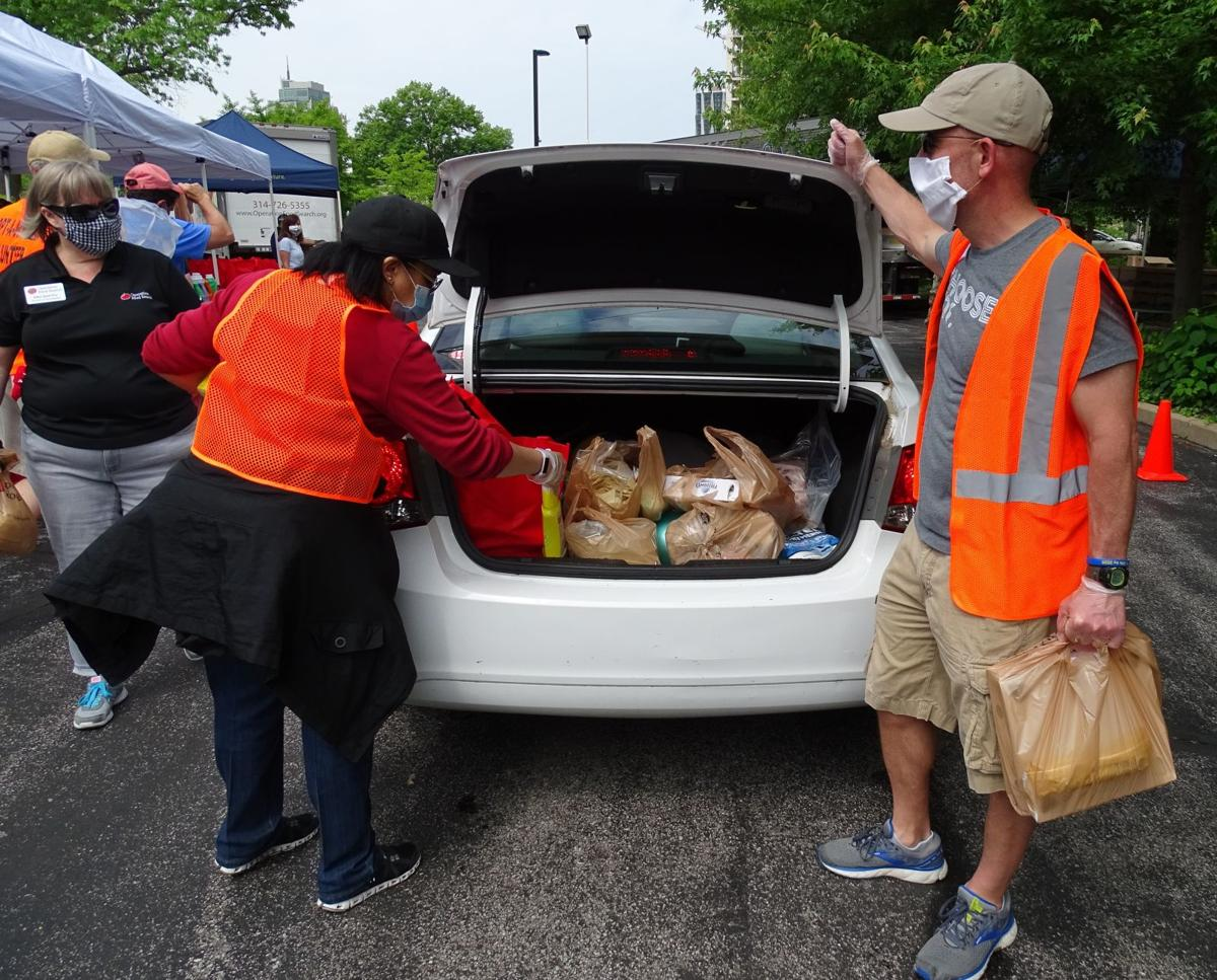 Catholic Charities of St. Louis food distribution event