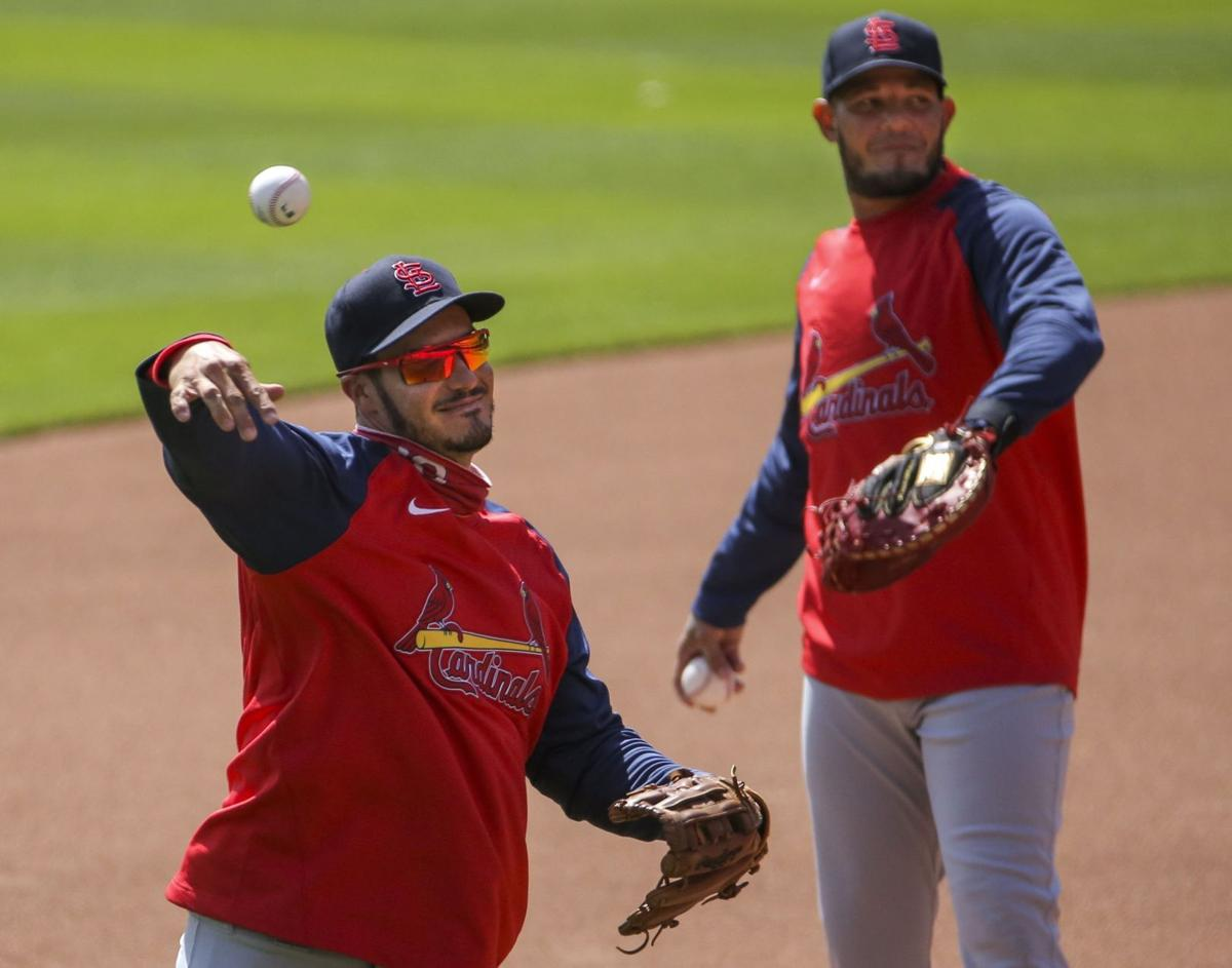 Cardinals hold a team workout ahead of opening day