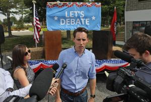 On at least one topic — the media — Senate candidate Josh Hawley differs with Trump
