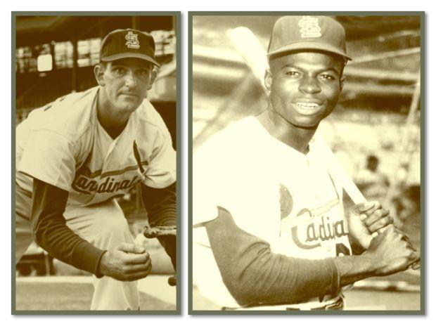 Ernie Broglio and Lou Brock