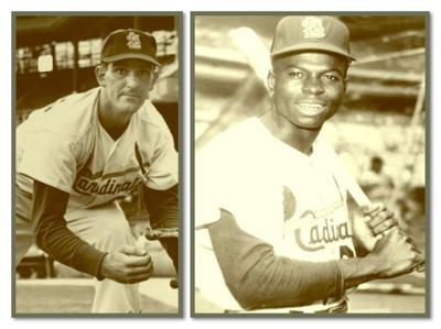 Ernie Broglio and Lou Brock