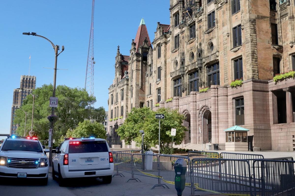 City Hall, Sunday morning, July 12, 2020
