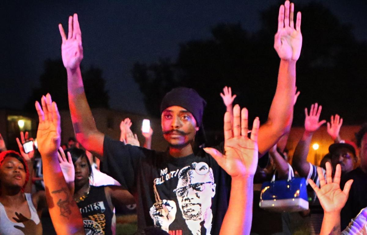 Olajuwon Ali Davis in Ferguson Aug. 9, 2014