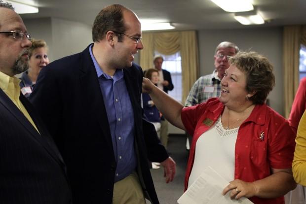 Jason Smith campaigns in Hillsboro